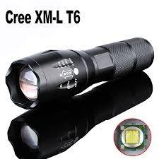 Lampara Táctica Cree Led T6 Xml Recargable Zoom
