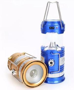 Lámpara Farol Campismo Recarga Solar O Ac Doble Función