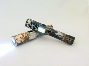 Lámpara Táctica Recargable 3000 Lumenes Con Torreta Y Zoom