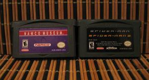 Lote De 2 Juegos Game Boy Advance Namco Museum + Spider-man