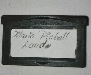Mario Pinball Land Game Boy Advance