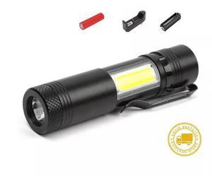 Mini Lámpara Táctica 2 En 1 1200 Lumen + Led Cob