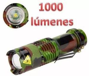 Mini Lámpara Táctica Camuflaje 1200 Lúmens + Soporte Bici