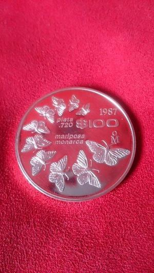 Moneda Plata Mariposa Monarca Solo 30 Mil Acuñadas
