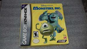 Monster Inc De Disney Pixar Para Game Boy Advance Con Caja.