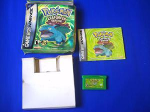 Pokemon Leaf Green, Caja Y Manual Para Tu Game Boy Advance