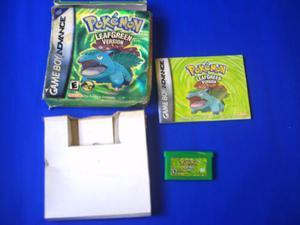 Pokemon Leaf Green, Caja Y Manual Para Tu Game Boy Advance