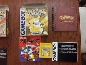 Pokemon Yellow Version Gbc En Caja