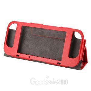 Red-pu Cuero Caso Cubierta Protectora Interruptor Ninte-3126