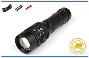 Remate! Lampara Tactica 3000 Lumenes Led T6 Recargable Zoom