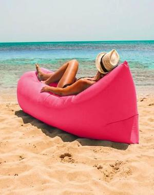 Sillon Colchon Cama Inflable Portatil Lamzac Camping Playa