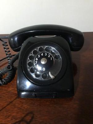 TELEFONO DE DISCO DE LOS 60TAS NEGRO