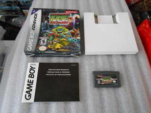 Turtles 2 Battle Nexus De Game Boy Advance Con Caja.