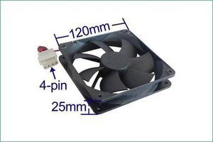 Ventilador Gabinete 120mm Xcase Negro Molex 4 Pines