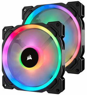 Ventilador Gamer 140 Mm Corsair Ll140 Rgb Dual Light 2 Fan