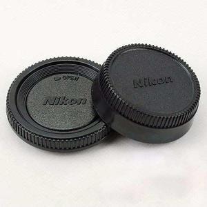 1 Jgo Tapas Cuerpo Lente Trasero Nikon Generica Con Logotipo