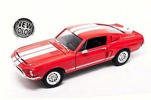 1968 Ford Mustang Shelby Gt500kr Rojo 1/18 Firma Por Carret