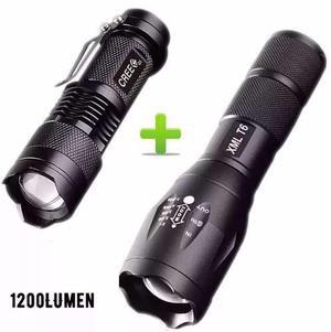 2 Kit Lampara Tactica 3000 Lumens +mini Lampara 1200 Lumens