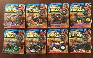 2018 Hot Wheels Monster Trucks Giant Wheels Set 8