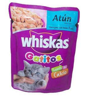 Alimento Para Gato Whiskas Atún Gatito 85 Gr