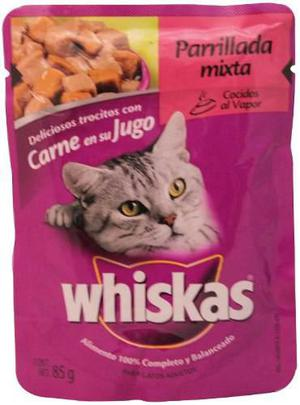 Alimento Para Gato Whiskas Parrillada Mixta 85 Gr
