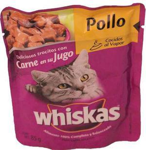 Alimento Para Gato Whiskas Pollo Adulto 85 Gr