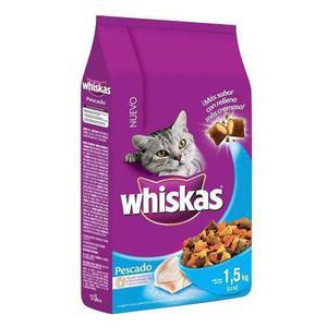 Alimento Para Gato Whiskas Sabor Pescado 1.5 Kg