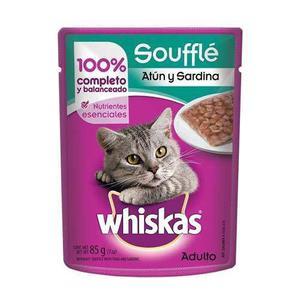 Alimento Para Gato Whiskas Soufflé Atún-sardina Adulto 85