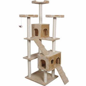 Arbol Trepador Rascador Para Gatos Casa Mascota Casita