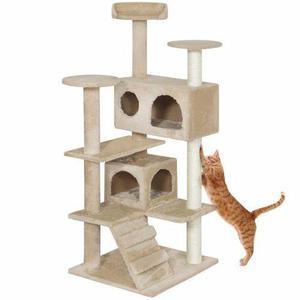 Arbol Trepador Rascador Para Gatos Casa Mascota Condo Tower