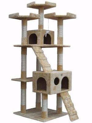 Arbol Trepador Rascador Para Gatos Casa Mascota Juegos