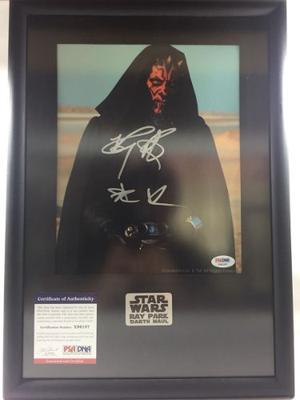 Autógrafo Certificado Star Wars Ray Park Como Darth Maul