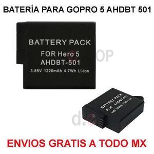 Bateria Pila De Litio Go Pro Hero Gopro 5 Y 6 Envio Gratis