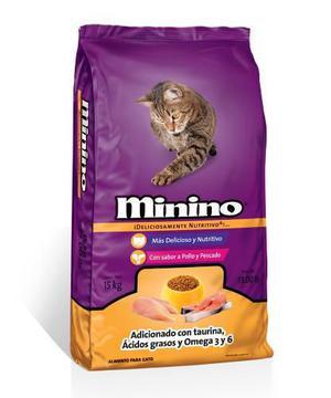Bulto Alimento Para Gato Minino En Croquetas De 15 Kilos