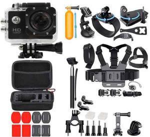 Camara De Accion 1080 Sports Cam + Kit De 30 Accesorios