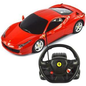 Carro Rastar Ferrari 458 Rc 1:18 A Control Remoto - Rojo