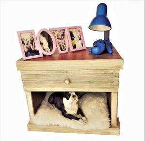 Casa De Perro Para Recamara Tipo Buroe En Madera
