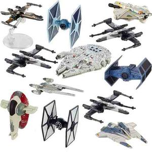 Colecion Paquete Set 12 Naves Star Wars Hot Wheels Disney