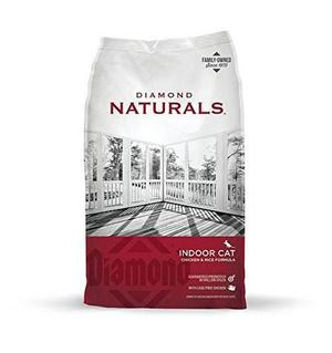 Diamond Naturals Indoor Cat Chicken & Rice 8.16kg. Croqueta