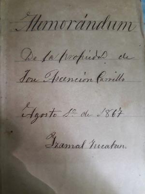 Diario antiguo de  y otros documentos de la epoca.