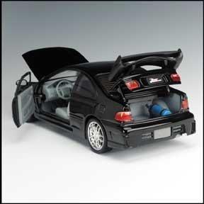 El Rápido Y Furioso 1995 Honda Civic Diecast Car Race 118 E