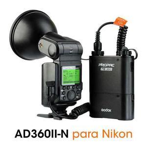 Flash Godox Ad360ii-n Ttl Alta Velocidad Para Nikon