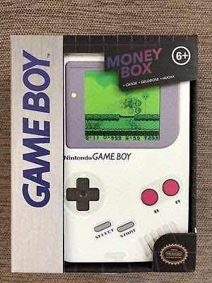 Game Boy Alcancía De Metal Nintendo Mario Bros