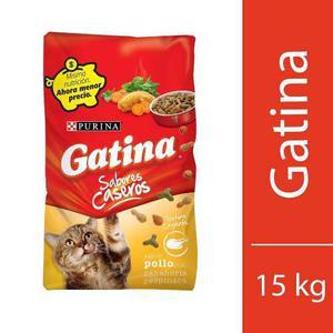 Gatina Alimento Para Gato Sabor Pollo Bulto 15 Kg