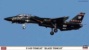 Hasegawa 01908 1/72 F-14d Tomcat Black Tomcat Kit Avion Ana
