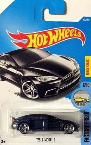 Hot Wheels 2017 Fábrica Fresca Tesla Modelo S 43/365, Negro