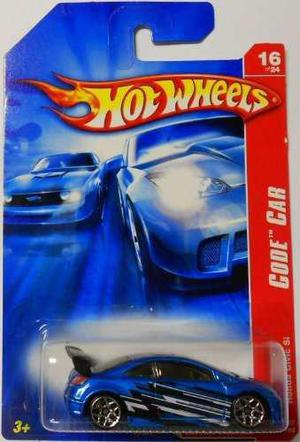 Hot Wheels Código Coche 16 De 24 Honda Civic Si Azul 100/18