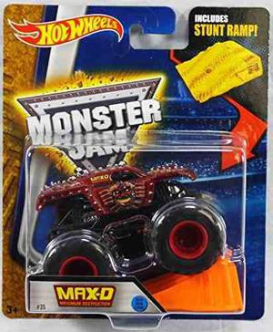 Hot Wheels Monster Jam Max D Maximum Destruction Red 2016 N