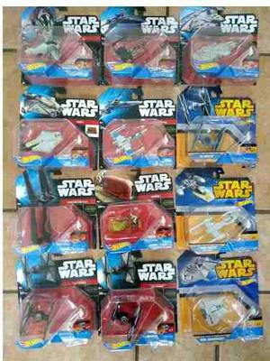 Hot Wheels Star Wars Caja Con 12 Naves Diferentes Sin Abrir
