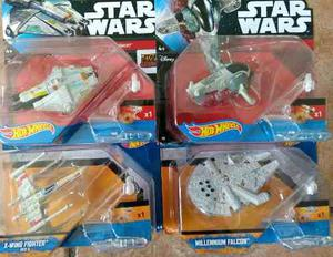 Hot Wheels Starwars Caja Con 12 Naves 4 Modelos Diferentes